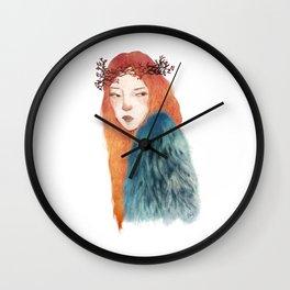 Berries Crown Girl Wall Clock