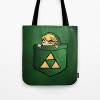 the legend of zelda Tote Bags featuring THE LEGEND OF ZELDA  by BeautyArtGalery