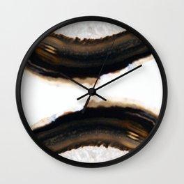 Agate Translucent #Brown #1 #decor #art #society6 Wall Clock