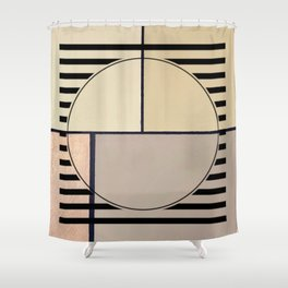 Toned Down - line graphic Shower Curtain