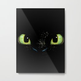 HTTYD Toothless Fiery Eyes Metal Print
