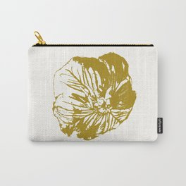 Minimal Yellow Carry-All Pouch