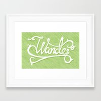 not all who wander Framed Art Prints featuring Not All Who Wander... by Christine Fleming