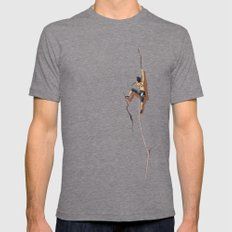 Climbing: Solitude Tri-Grey Mens Fitted Tee MEDIUM