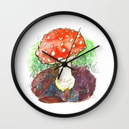The Perfect Mushroom Wall Clock