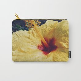 Yellow Hawaiian Hibiscus Flower Carry-All Pouch