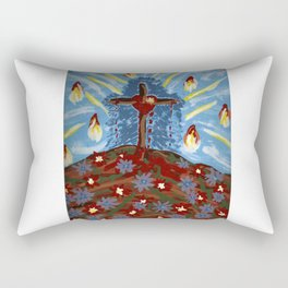 Dancing Crucified Love and the Holy Spirit Rectangular Pillow
