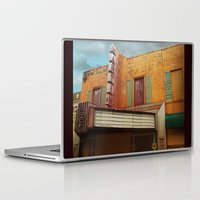 theater Laptop & iPad Skins featuring The Crumbling Martin Theater by Little Bunny Sunshine