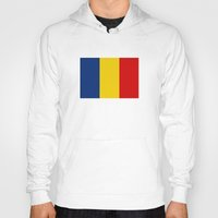 chad wys Hoodies featuring chad country flag by tony tudor