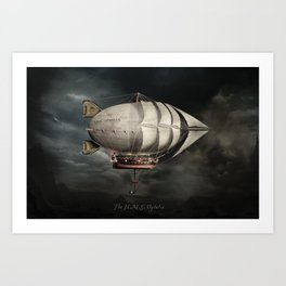 The Airship Ophelia Art Print