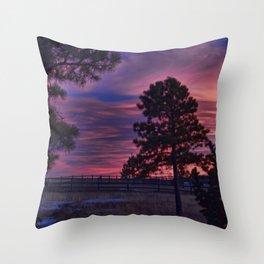 Behind The Sunset Throw Pillow