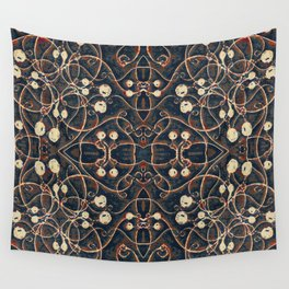 Victorian Style Grunge Pattern Wall Tapestry