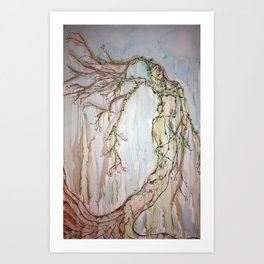 Woman of the Trees Art Print