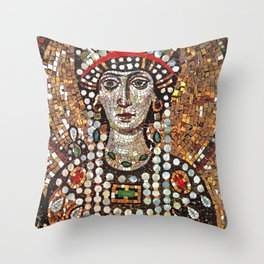 Byzantine Empress Saint Theodora of the Roman Empire Throw Pillow
