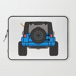 Jeep Wave Back View - Blue Jeep Laptop Sleeve