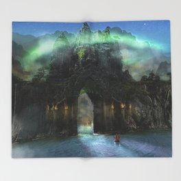 The Jade Gates Throw Blanket