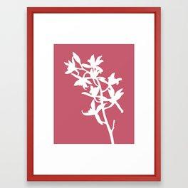 Orchid in Hot Pink - Original Floral Botanical Papercut Design Framed Art Print
