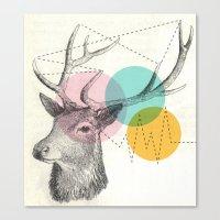 stitch Canvas Prints featuring stitch doe by Vin Zzep