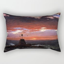 Beacon off Mount Desert Island, Maine by Frederic Edwin Church Rectangular Pillow
