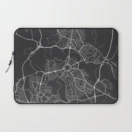 Canberra Map, Australia - Gray Map Laptop Sleeve