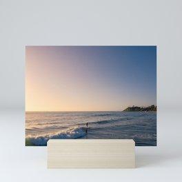 Longboard Surfer Mini Art Print