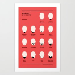Kinnbartspektrum / Spectrum of Chin-Beards Art Print