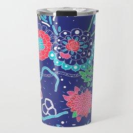 Flowers and Cactus Travel Mug