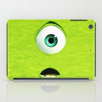 monster inc iPad Cases featuring Monster Inc Mike by Veylow