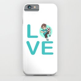 Juggle Football Love Young Child iPhone Case