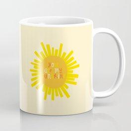 You Are My Sunshine // Yellow Coffee Mug