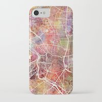 real madrid iPhone & iPod Cases featuring Madrid by MapMapMaps.Watercolors