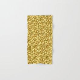 William Morris Thistle Damask in Mustard Gold Hand & Bath Towel