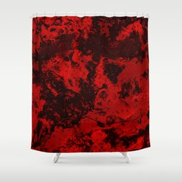 Marble-Red Shower Curtain