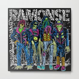 PUNK MONSTERS Metal Print