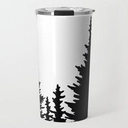 Dense Forest Tree Line Travel Mug
