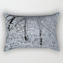 Late Winter Snow Entanglement Rectangular Pillow