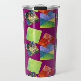 Painted Squares Jiggle - Plum Travel Mug