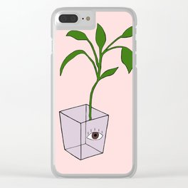 All Seeing Eye Plant Clear iPhone Case