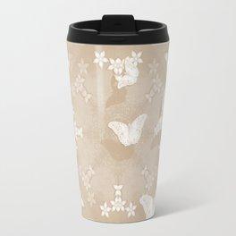 Dreamy butterflies and mandala in iced coffee Travel Mug