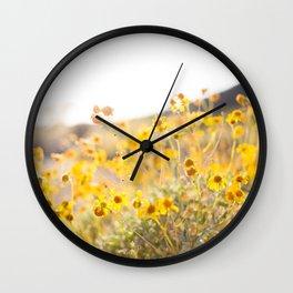 Arizona Wildflowers Wall Clock