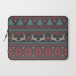 Christmas Tricot - Multicolored Laptop Sleeve