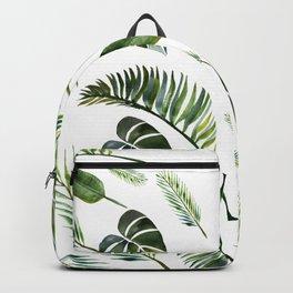 heart of tropical leaves // watercolor leaves // palm leaf // monstera leaf // tropics // summer Backpack