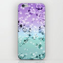 Mermaid Lady Glitter Stars #4 #shiny #decor #art #society6 iPhone Skin