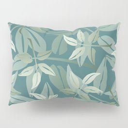Leaf branch pattern green #leaves #society6 Pillow Sham