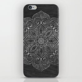 Wood Mandala - Silver iPhone Skin
