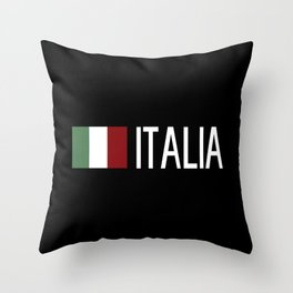 Italy: Italia & Italian Flag Throw Pillow
