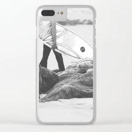 catch a wave IV Clear iPhone Case