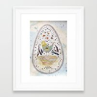 egg Framed Art Prints featuring Egg by Infra_milk