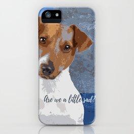 Are we a little sad? iPhone Case