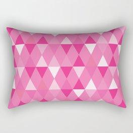 Harlequin Print Pinks Rectangular Pillow